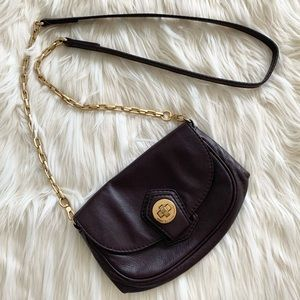 Marc Jacobs small purse/ wallet on chain in eggplant colour